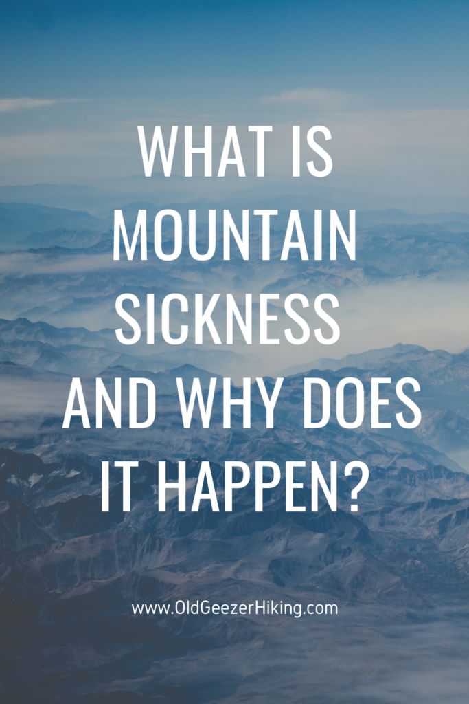 what is mountain sickness and why does it happen on a background of the clouds and sky