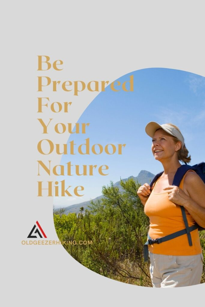 e prepared for your outdwith woman with backpack on ousideoor nature hike