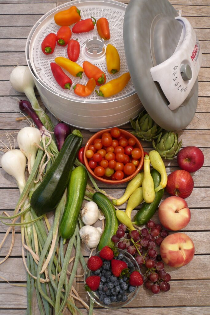 vegetables and for making backpacking food. a food dehydrator