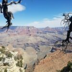 the view of a canyon in the Grand Canyon Arizona.