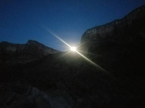 moonlight in the Grand Canyon.