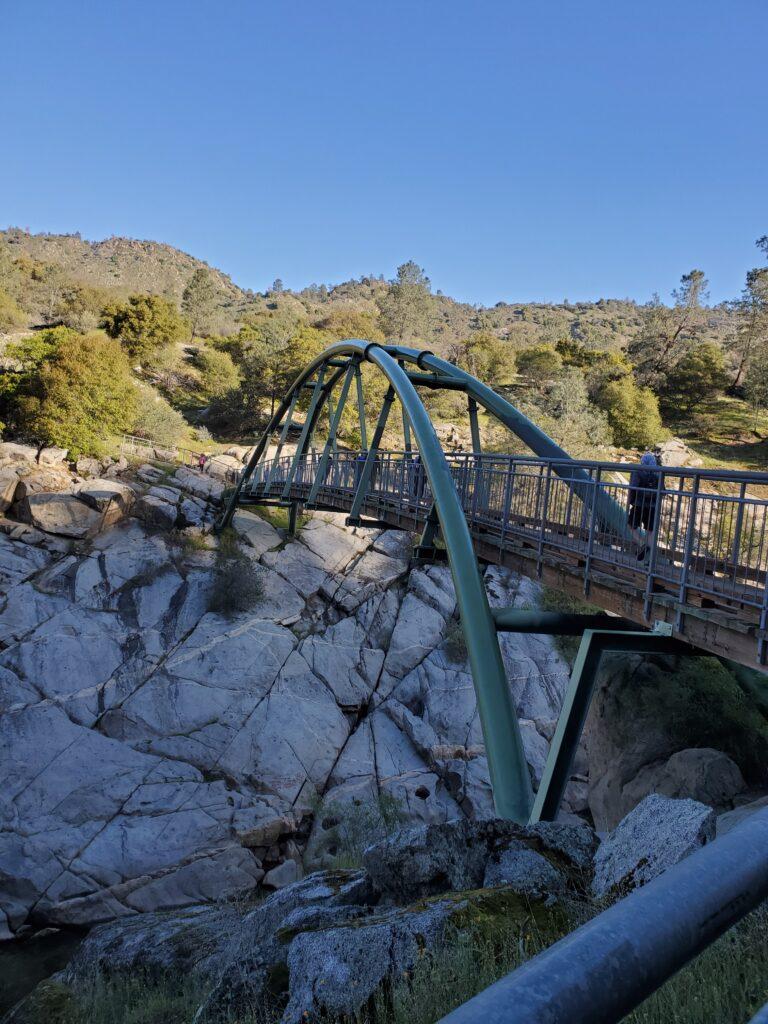 the bridge on the San Joaquin River Gorge Trail