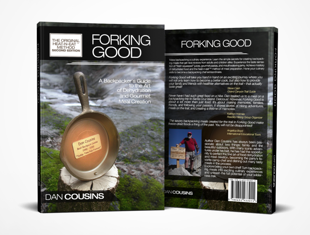 Cover of Forking Good a backpacking cookbook to the art of dehydrating easy backpacking meals